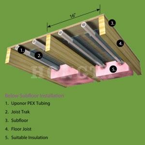 joisttrak地板辐射采暖图纸