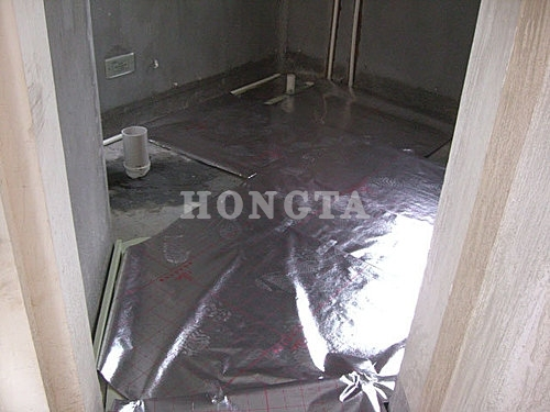 家用地暖安装示意图:铺保温板