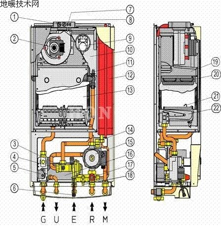 地暖锅炉结构图