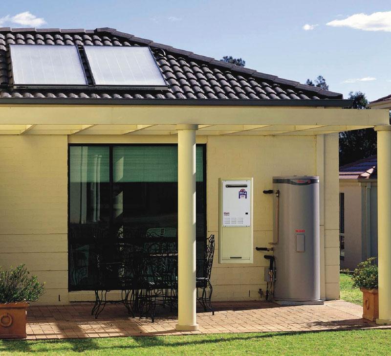 VULCAN万凯平板太阳能热水器安装效果