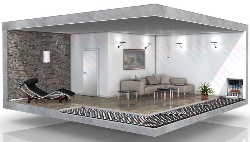 地暖墙面辐射供热