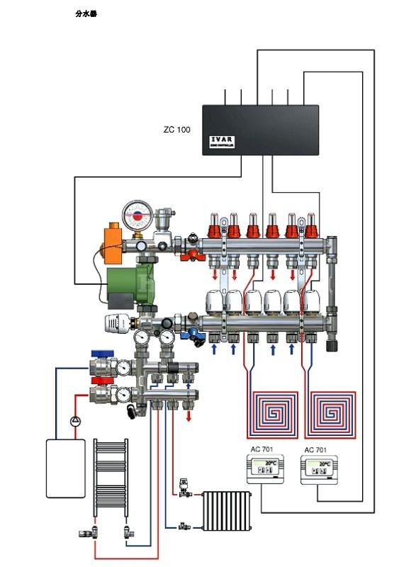 地暖混水系统