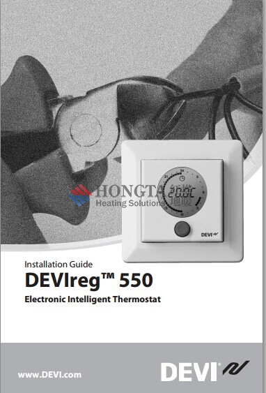 DEVIreg550 型号丹佛斯地暖温控器说明书