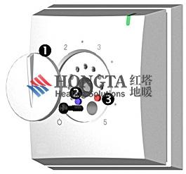 机械式地暖地暖温控器安装