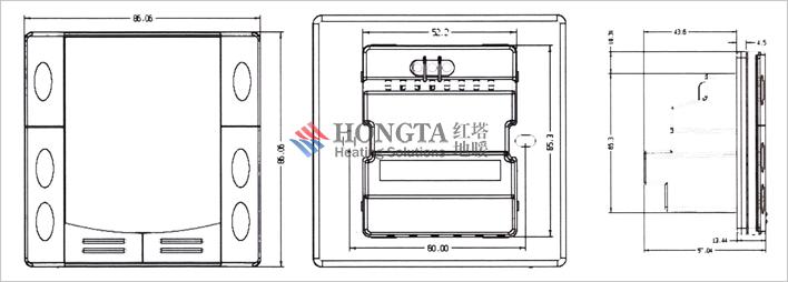 无线控制的智能暖通地暖温控器 摘要 本实用新型公开一种基于433MHz无线控制的智能暖通地暖温控器,包括无线地暖温控器发送装置和接收装置;发送装置包括第一供电模块、显示模块、第一按键模块、第一处理模块、温度检测模块和第一433MHz无线信号收发模块,第一供电模块向发送装置供电,温度检测模块、第一按键模块、显示模块和第一433MHz无线信号收发模块接第一处理模块,接收装置包括第二供电模块、指示灯、第二按键模块、第二处理模块、第二433MHz无线信号收发模块和继电器控制模块,第二供电模块向无线地暖温控器的接收
