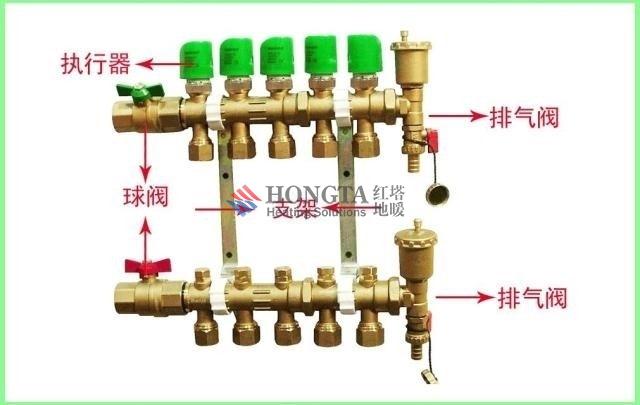 分集水器简介和安装结构示意图-地暖-红塔暖通